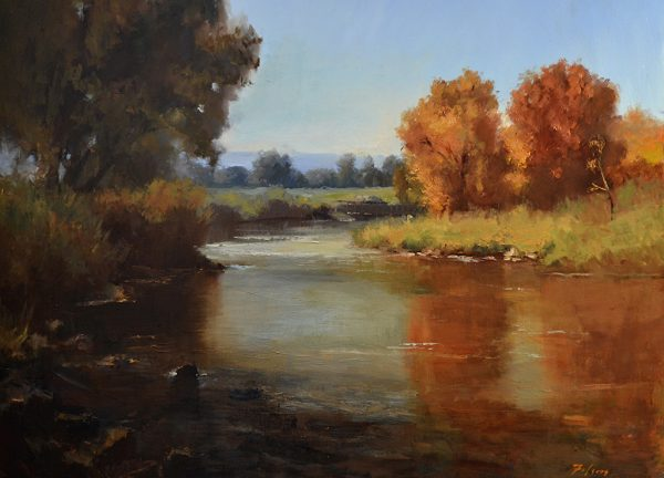 "Fall on the River, Oil on Linen, 24"" x 30"""