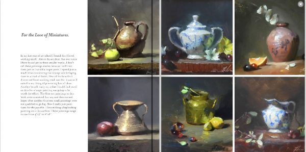 An image of an inner page of the book titled A Passion for Still Life Painting by Kelli Folsom