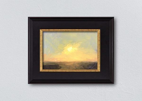 Sunrise Ten Black Framed by Kelli Folsom.