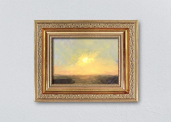Sunrise Ten Gold Ornate Framed by Kelli Folsom.