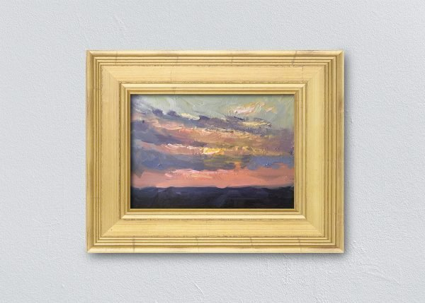 Sunrise Eleven Gold Framed by Kelli Folsom.