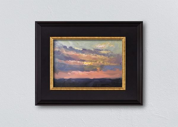 Sunrise Eleven Black Framed by Kelli Folsom.