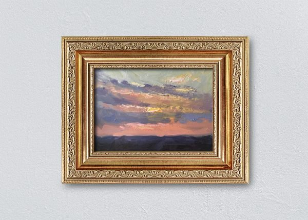 Sunrise Eleven Gold Ornate Framed by Kelli Folsom.