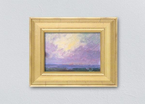 Sunrise Twelve Gold Framed by Kelli Folsom.