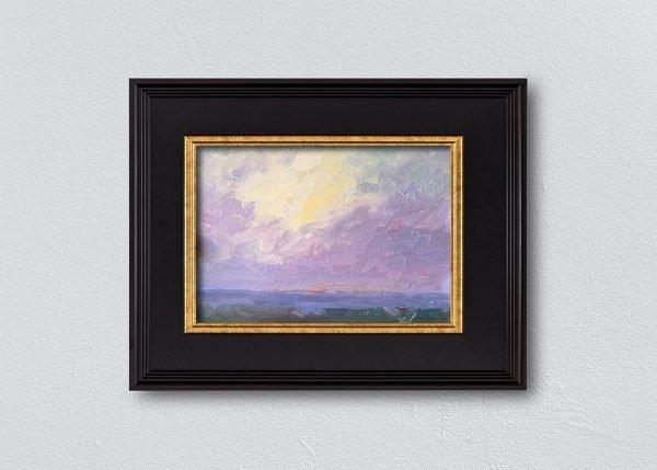 Sunrise Twelve Black Framed by Kelli Folsom.