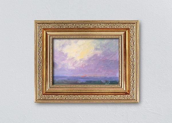 Sunrise Twelve Gold Ornate Framed by Kelli Folsom.