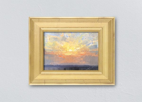 Sunrise Thirteen Gold Framed by Kelli Folsom