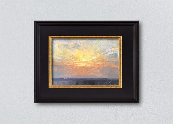 Sunrise Thirteen Black Framed by Kelli Folsom