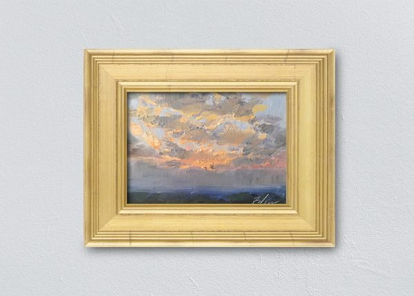Sunrise Fourteen Gold Framed by Kelli Folsom