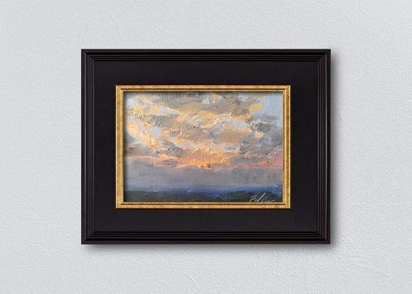 Sunrise Fourteen Black Framed by Kelli Folsom.