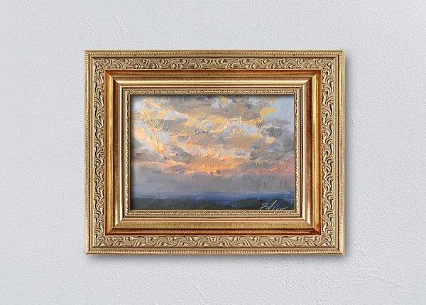 Sunrise Fourteen Gold Ornate Framed by Kelli Folsom