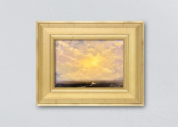 Sunrise Fifteen Gold Framed by Kelli Folsom.