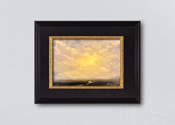 Sunrise Fifteen Black Framed by Kelli Folsom