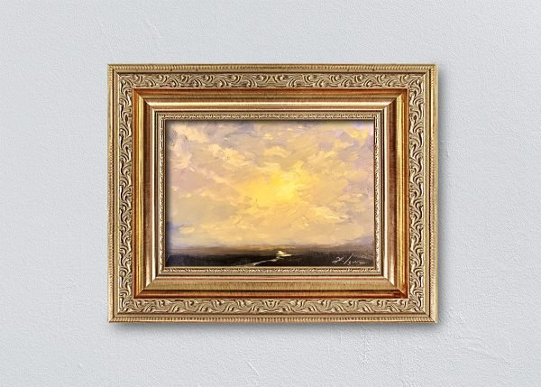 Sunrise Fifteen Gold Ornate Framed By Kelli Folsom