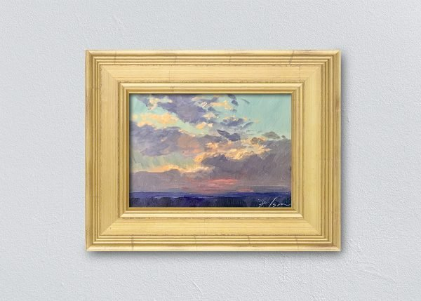 Sunrise Sixteen Gold Framed by Kelli Folsom.