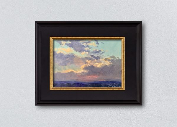 Sunrise Sixteen Black Framed by Kelli Folsom.