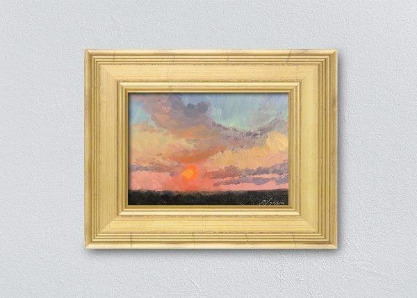 Sunrise Seventeen Gold Framed by Kelli Folsom
