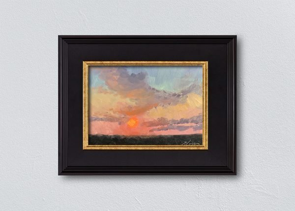 Sunrise Seventeen Black Framed by Kelli Folsom.
