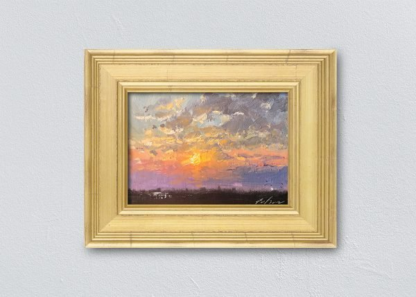 Sunrise Eighteen Gold Framed by Kelli Folsom.