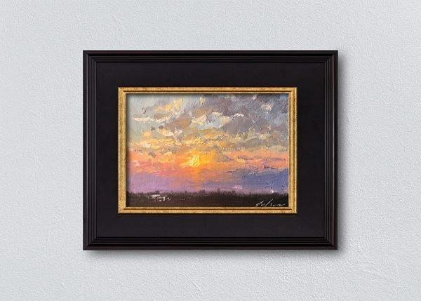 Sunrise Eighteen Black Framed by Kelli Folsom