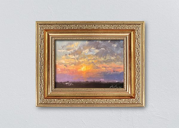 Sunrise Eighteen Gold Ornate Framed by Kelli Folsom.