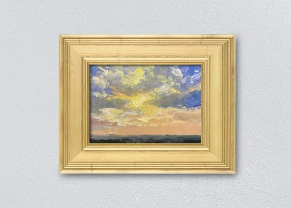 Sunrise Nineteen Gold Framed by Kelli Folsom.