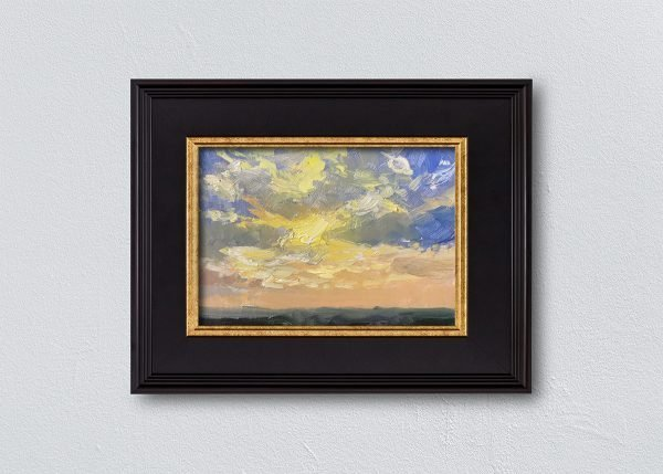 Sunrise Nineteen Black Framed by Kelli Folsom.