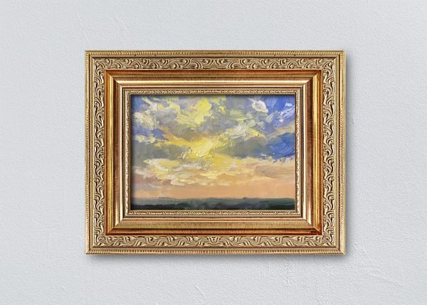 Sunrise Nineteen Gold Ornate Framed by Kelli Folsom.