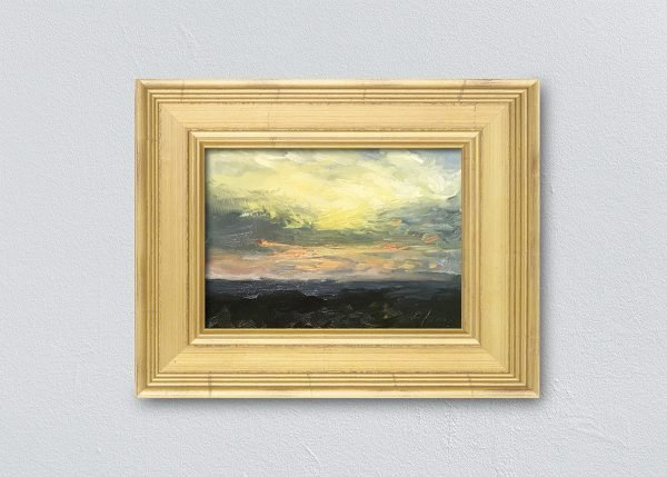 Sunrise One Framed Gold by Kelli Folsom