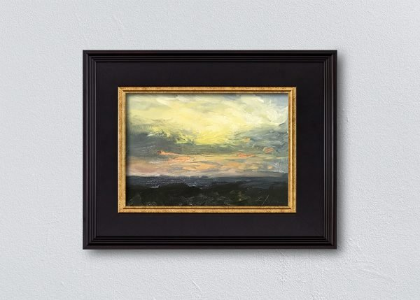 Sunrise One Framed Black by Kelli Folsom