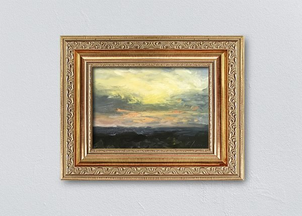 Sunrise One Framed Gold Ornate by Kelli Folsom.