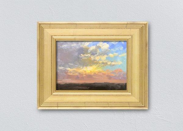 Sunrise Twenty Gold Framed by Kelli Folsom.