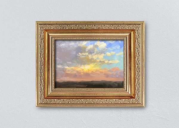 Sunrise Twenty Gold Ornate Framed by Kelli Folsom