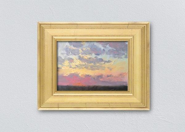 Sunrise Twenty-One Gold Framed by Kelli Folsom.