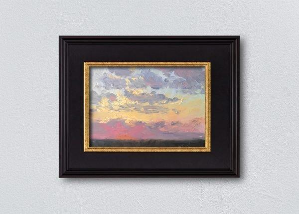Sunrise Twenty-One Black Framed by Kelli Folsom.