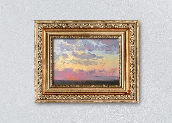 Sunrise Gold Ornate Framed by Kelli Folsom.
