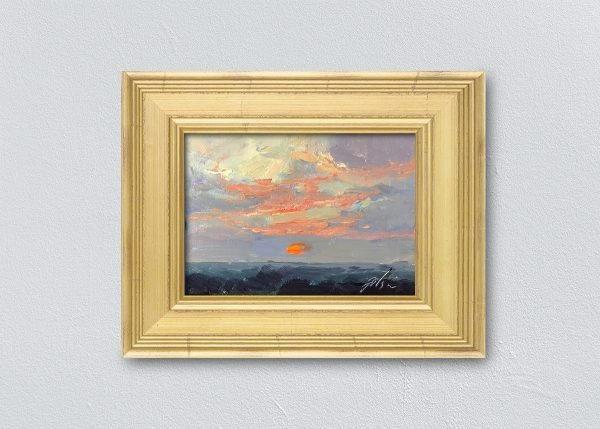 Sunrise Twenty-Two Gold Framed by Kelli Folsom.