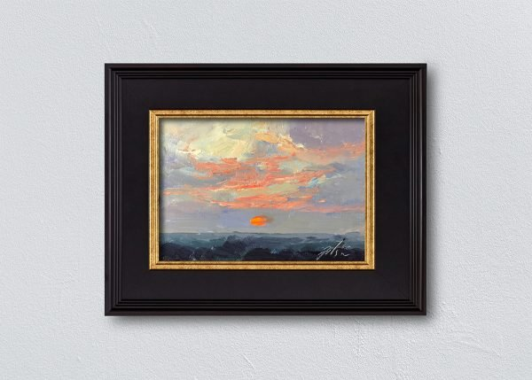 Sunrise Twenty-Two Black Framed by Kelli Folsom.