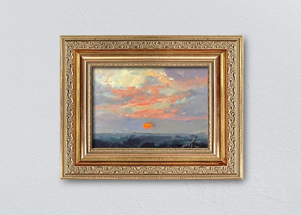 Sunrise Twenty-Two Gold Ornate Framed by Kelli Folsom.