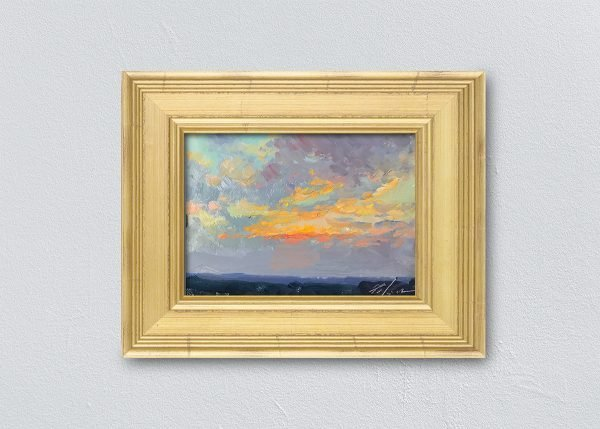 Sunrise Twenty-Three Gold Framed by Kelli Folsom.