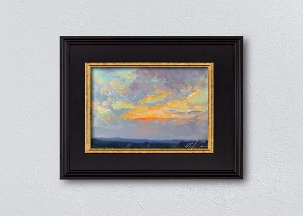 Sunrise Twenty-Three Black Framed by Kelli Folsom.