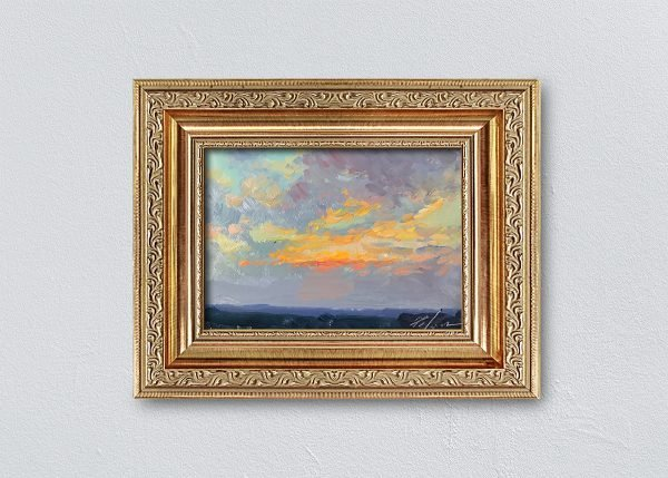 Sunrise Twenty-Three Gold Ornate Framed by Kelli Folsom.