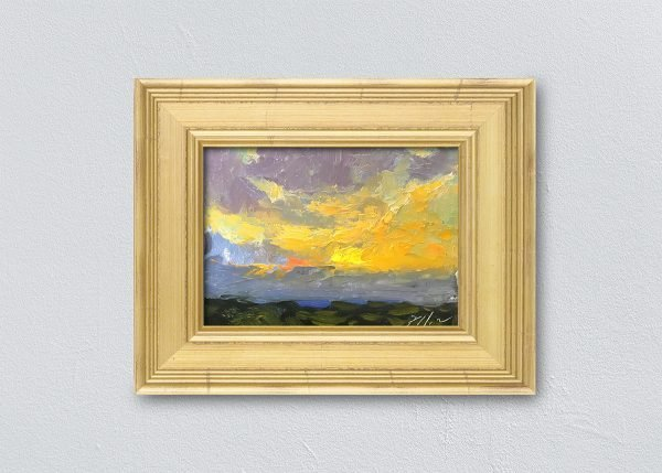 Sunrise Twenty-Four Gold Framed by Kelli Folsom.
