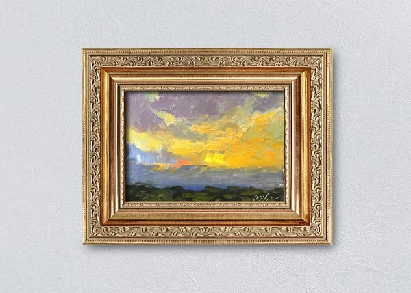 Sunrise Twenty-Four Gold Ornate Framed by Kelli Folsom.
