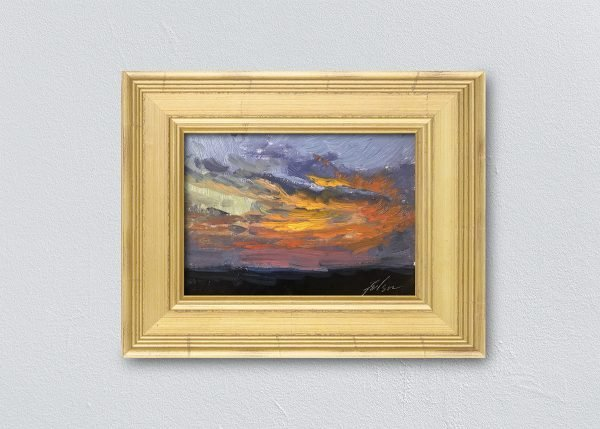 Sunrise Twenty-Seven Gold Framed by Kelli Folsom.