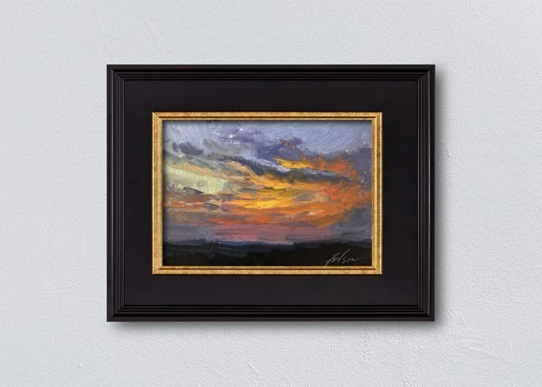 Sunrise Twenty-Seven Black Framed by Kelli Folsom.