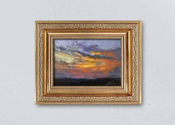 Sunrise Twenty-Seven Gold Ornate Framed by Kelli Folsom.