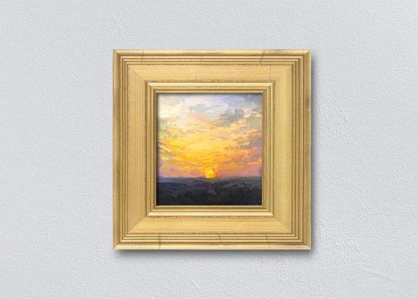Sunrise Twenty-Eight Gold Framed by Kelli Folsom.