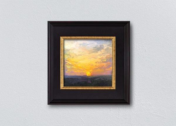 Sunrise Twenty-Eight Black Framed by Kelli Folsom.