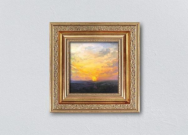 Sunrise Twenty-Eight Gold Ornate Framed by Kelli Folsom.